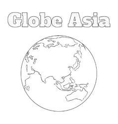 Globe asia view vector