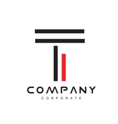 Alphabet letter line t logo icon design vector image