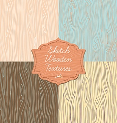 Art wooden texture with signboard vector image vector image