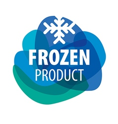 Blue logo for frozen foods with snowflake vector