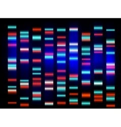 Colourful medical dna results with black vector
