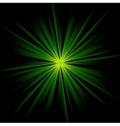 Dark green beams abstract background vector image vector image