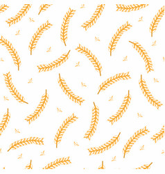 ears of wheat seamless pattern hand drawn bakery vector image