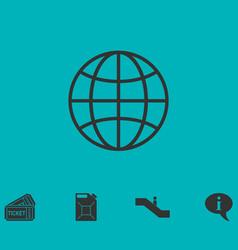 Earth icon flat vector