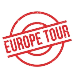 Europe tour rubber stamp vector