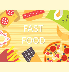 Fast food template vector