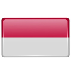 Flags indonesia in the form of a magnet on vector