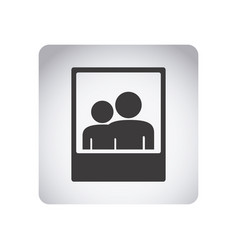 gray emblem people picture icon vector image