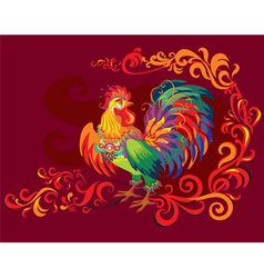 image of rooster vector image