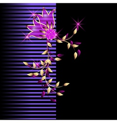 neon flowers vector image