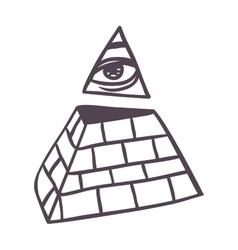 Pyramide vector image