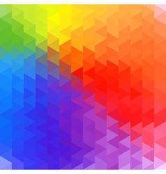 Rainbow geometry background vector image vector image