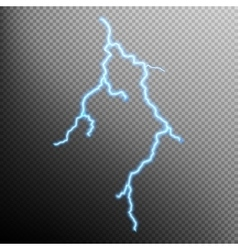 Realistic lightning with transparency EPS 10 vector image vector image