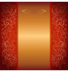 red royal invitation card vector image vector image
