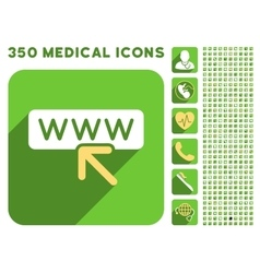Select Website Icon and Medical Longshadow Icon vector image