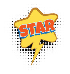 star comic word vector image vector image