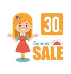 Summer discounts seasonal sale banner vector