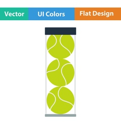 Tennis ball container icon vector image