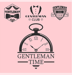 Vintage style pocket watch gentleman vector