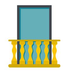 Balcony icon isolated vector
