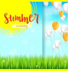 Stylish summer advertisement background blue vector