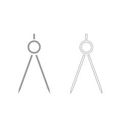 Pair of compasses the grey set icon vector