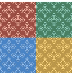 Set - vintage color seamless patterns vector