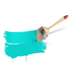 Paint brush aqua background vector