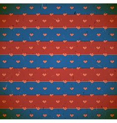 Cardboard print with hearts vector
