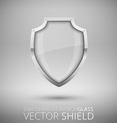 Glass shield vector