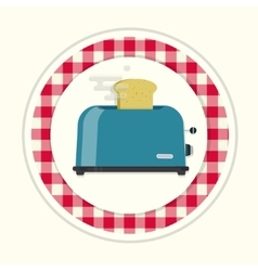 Kitchen toaster vector