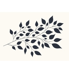 Stylized branches with foliage vector