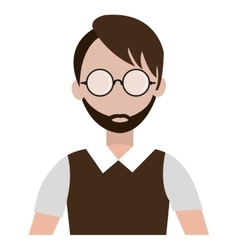 Avatar man and eyeglasses graphic vector