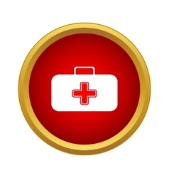 First aid case icon simple style vector