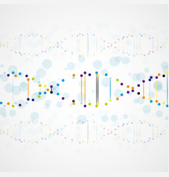 abstract futuristic dna vector image