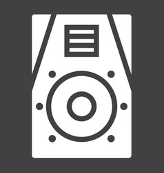 audio monitor glyph icon music and instrument vector image