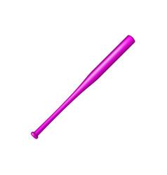 baseball bat in purple design vector image vector image