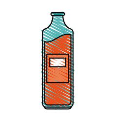 Bottle with blank laber icon image vector