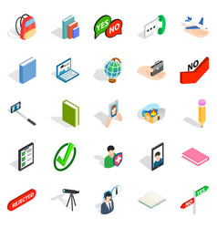 Casual conversation icons set isometric style vector