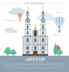 City buildings graphic template Belarus vector image vector image
