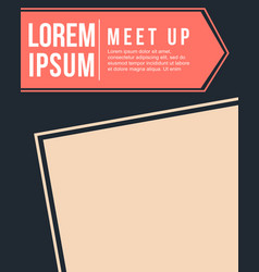 Cool colorful background meet up card style vector