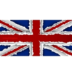 Design flag united kingdom from torn papers with vector