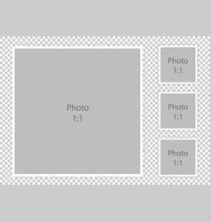 Furry textured border photoframes modern collage vector