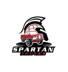 Global spartan truck vector