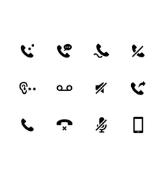 Handset icons on white background vector