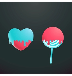 heart and candy vector image vector image
