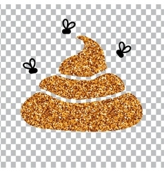 Image of gold glitter shit white background vector
