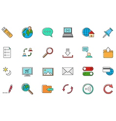 Internet colorful icons set vector