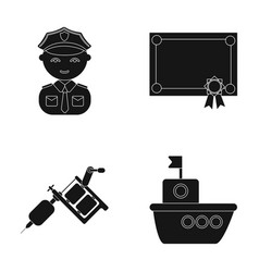 Leisure profession tourism and other web icon in vector