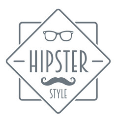 Men hipster style logo simple style vector